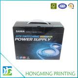 Impressão offset Caixa de papelão resistente com alça