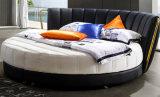 Design élégant moderne lit en cuir véritable (SC325) pour la chambre