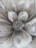 Pintura al óleo hecha a mano floreciente agradable de la flor del conjunto (3PCS) para el arte de la pared
