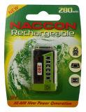 9V NIMHの充電電池250mAh