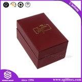 Roter Pappec$leicht schlagen-oberseite Halsketten-Ring-Schmucksache-Geschenk-Kasten