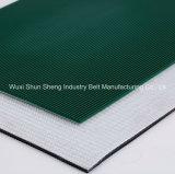 Banda transportadora de la muestra libre del modelo de la tela a rayas para la planta de fabricación