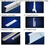 Accessoires pour plafond en aluminium Plafond métallique Galv. Porte-baguette et noix