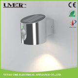 Luz solar de la pared del jardín del sensor de interior LED de la lámpara