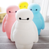 Cute Baymax Design Soft Silicone Pencil Case para estudantes da escola