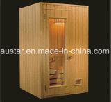sauna quadrata di legno solido di 1200mm per 2 persone (AT-8619)