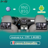 Interfaccia di multimedia del video del poggiacapo video per golf 7 di VW con Navigaiton Android Bluetooth incorporato, WiFi, BT