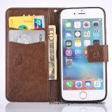 Тисненые Кожаное портмоне сотовый телефон чехол для iPhone Samsung