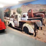 カスタマイズされたデザイン美しい図形自己接着ビニールの壁の壁の印刷