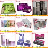 Caja de regalo de papel de la ventana con la impresión de encargo y la bandeja de la ampolla para los cosméticos