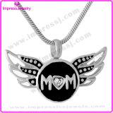 Flügel-Form-Edelstahl-Verbrennung-Schmucksache-Anhänger für Mamma