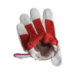 Katoenen van de Palm van het Leer van het varkensleer Achter Mechanische Handschoen Tuinierende handschoen-7139