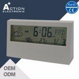 Relógio de mesa de alarme de promoção digital com estação meteorológica