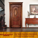 Intagliando il portello di entrata di legno solido di disegno del portello (XS2-020)