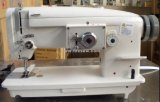 Machine à coudre de zigzag d'alimentation de baisse de bâti plat lourde avec le grand crochet