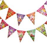 L'ultimo bello tessuto alla moda esterno inbandiera la stampa per la festa di compleanno
