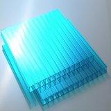 Het gekleurde of Transparante Holle Blad van Twinwall van het Polycarbonaat voor Serre