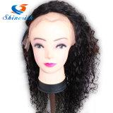 머리 가발 조밀도 130%-200%의 사람의 모발 가득 차있는 레이스 정면 가발