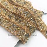 Новый Rhinestone элемента уравновешивая горячий Fix отбортовывает цепь Rhinestone для уравновешивать вспомогательного оборудования одежды (золото TP-20mm)