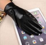 Перчатки классицистических черных повелительниц кожаный для женщин