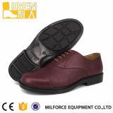 Les matériaux Milforce-Choisis Brown Oxford en cuir chausse des hommes