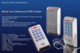 Carcasa metálica resistente al agua el lector de tarjetas de proximidad sin contacto Lector de Control de acceso