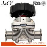 Mini válvula de diafragma sanitaria del acero inoxidable con los extremos de la autógena