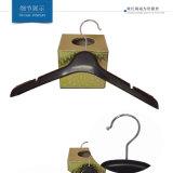 中国の熱い販売の黒の製造スリップの女性のカスタムプラスチックハンガー無し