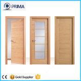 Portes intérieures de panneau interne en bois bon marché de la porte 6 avec le bâti
