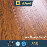 Household 12.3mm HDF AC3 Embossed Elm Waxed Edge of laminates Flooring