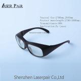 2700-3000nm를 위한 착색된 형식 Eyewear 높은 방어적인 투과율 80% ce_e 레이저 안전 유리