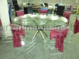 Оптовая торговля высокое качество фальцовки ПВХ банкетный стол и стулья