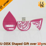USB Purplish-Red personalizado Pendrive do presente de Waterdrops (YT-6660)