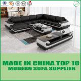 Base di sofà di legno del cuoio genuino del salone