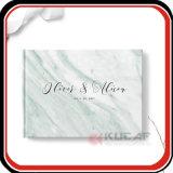 Mármol personalizado libro Cuaderno de invitados de boda