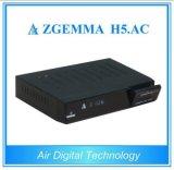 Multi-Media Doppeltuners Zgemma H5 des Spieler-Kasten-DVB-S2+ATSC. Satellitenempfänger Wechselstrom-Linux OS-Enigma2