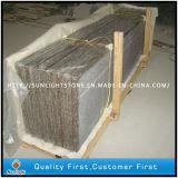Parti superiori su ordinazione di vanità della stanza da bagno del granito G682 con il dispersore di sotto del taglio