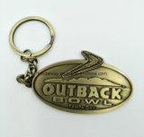 Regalo de encargo Keychain del recuerdo del metal de la insignia de la promoción