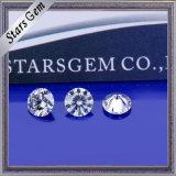 명확한 백색 E/F 색깔 1.5carat Moissanite 다이아몬드
