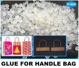 Colle chaude blanche de séchage rapide de fonte d'EVA pour le traitement de sac de papier