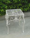 Basamento classico della piantatrice del quadrato del metallo dell'oggetto d'antiquariato S/3 dell'ornamento del giardino