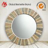 Specchio rotondo di legno naturale variopinto della parete di nuovo stile 2017 per la decorazione (LH-M170612)