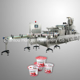 Relleno del yogur y máquina del lacre para las tazas