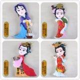 Imán de goma del refrigerador del estilo tradicional chino de la belleza
