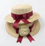 Шлемы Пшениц-Сторновки лодочника Canotier высокого качества с тесемкой или цветком (CPA_80056)