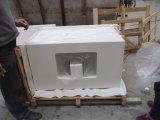 Prateleiras de banho de pedra sólida de quartzo branco puro
