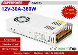 alimentazione elettrica di commutazione di video di obbligazione di 12V 30A 360W