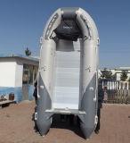 Bateau à ponton gonflable avec plancher en aluminium (FWS-D360)
