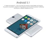 Argent initial de smartphone d'empreinte digitale du téléphone mobile 4800mAh de pouce HD de ROM 5.5 du RAM 16g de Smartphone 3G du l'Octa-Faisceau Mtk6753 de l'androïde 5.1 de Thl T7