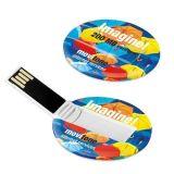 Mini disco redondo barato quente da memória da movimentação do flash do USB da forma do cartão